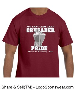 Crusader Pride - Burgundy (Adult) Design Zoom