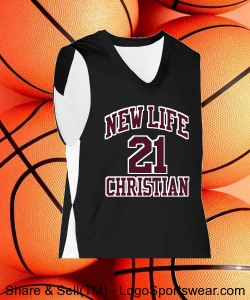 YOUTH BASKETBALL JERSEY - APPROVE NUMBER BEFORE ORDERING Design Zoom